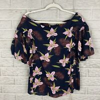 UMGEE Women Life Of The Party Top Size Small Floral Tropic Off Shoulder NEW