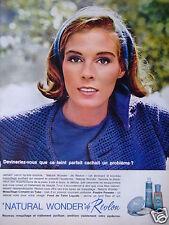 PUBLICITÉ 1964 NATURAL WONDER DE REVLON MAQUILLAGE TRAITEMENT PURIFIANT