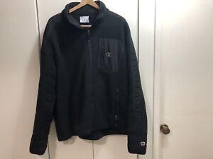 Champion Men's Pre-Owned 3XL Black Sherpa Fleece Jacket Excellent Condition