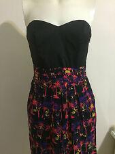 Wish Black Dress Sweetheart Strapless Pleat Hawaii Tube Tree Skirt Cocktail Pink