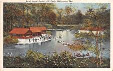 BALTIMORE MD 1915-30 Boat Lake, Druid Hill Park VINTAGE MARYLAND GEM+++  531