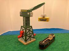 Cranky Crane & Bulstrode Barge Boat - THOMAS & FRIENDS TRAIN WOODEN RAILWAY