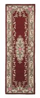 SALE Chinese Aubusson Red Wool Rug in various sizes runner half moon and circle