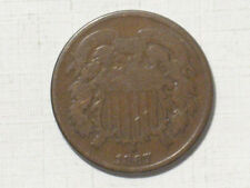 1867 TWO CENT PIECE - UNITED STATES COIN 2 CENTS