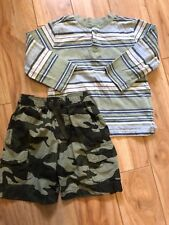 Boy's Mixed Clothing Lot  Size 3T Brands Old Navy Shorts & Faded Glory Shirt