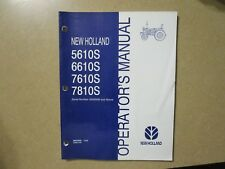 New Holland 7810 S 5610 S 6610 S 7610 7810 S tractor owners & maintenance manual