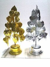 "11"" Thai Artificial Gold , Silver Bodhi Tree for Buddha shrine 5 storey"