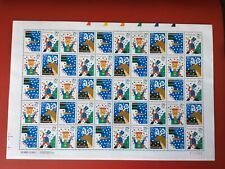 Christmas Greetings- Sheet of .29 cent stamps