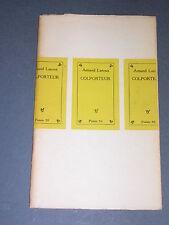"""Poésie Armand Lanoux le colporteur seghers coll """"poésie 1952"""" edition originale"""