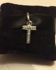 Genuine Pandora 1/2 PRICE SALE Letter T Pendant Charm With Pandora Gift Pouch