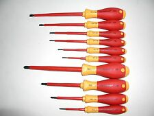 Wiha 10 Pc. Insulated Slotted/Phillips Screwdriver Set 32093