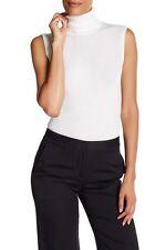 NWT Diane von Furstenberg CANVAS WHITE  Sutton Wool & Silk Sweater L $178