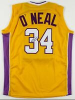 Shaquille O'Neal Signed Los Angeles Lakers Jersey JSA COA. Pre-owned.