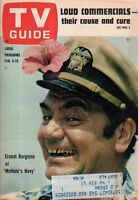 1963 TV Guide February 9 Ernest Borgnine; McHale's Navy; Vivian Vance-Lucy show