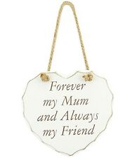 Mum Mothers Day Mom MAM Mother Wall Plaque Heart Shape Hinging Forever Friend