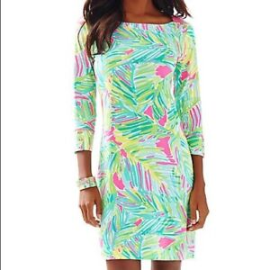 Lilly Pulitzer PO 044035 UPF 50+ Sophie Dress AS IS dull color SMALL S