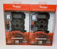 2 PACK WILDGAME INNOVATIONS SCRAPELINE 16 LOW GLOW INFARED GAME CAMERA SD COMBO
