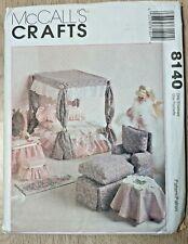 McCall's Crafts 8140 Barbie Doll Furniture Pattern Bedroom + Living Room ~ UNCUT