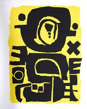 Norbert KRABBE (1951) Sérigraphie signée. HandSigned Serigraph Outsider Art brut
