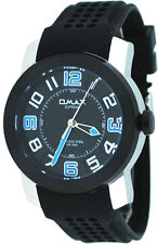 Omax Supreme TS670 Men's Stainless Steel IP Bezel Silicone Casual Sports Watch