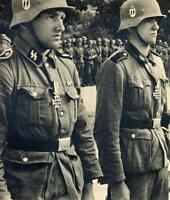 WWII B&W Photo German Soldiers Iron Cross  Wehrmacht SS World War Two  WW2 /2081