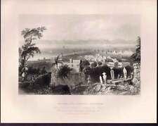 Rhodes, the Ancient Dodanim 1847 Steel Engraving