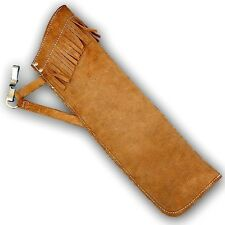 TRADITIONAL LEATHER HIP/SIDE ARROW QUIVER AQ136S - BROWN