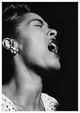 "Reproduction ""Billie Holiday - Singing"" Poster, Jazz, Wall Art, Vintage Print"