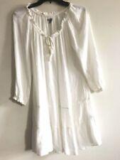 Aerie Cream Off Shoulder Tie Front Dress Women Size M Stylish RN# 54485 CA#03973