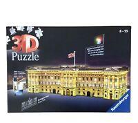 Ravensburger 3D Puzzle Buckingham Palace Night Edition 237 Piece Jigsaw LED, VGC