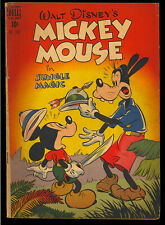 Four Color #181 (Mickey Mouse) Nice Walt Disney Golden Age Dell Comic 1948 VG-