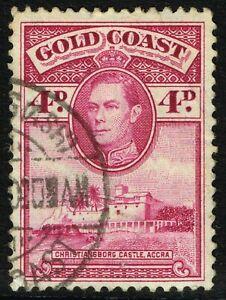 SG 125 GOLD COAST 1938 - 4d MAGENTA (perf. 12) - USED