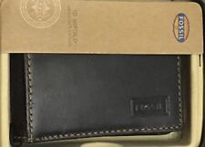 Brand New Fossil Mens Brown Leather Sam Flip Bifold Wallet - ML3292200