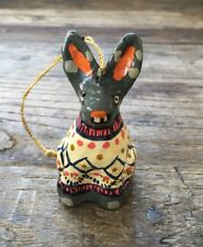 Anthropologie Christmas Ugly Sweater Ornament Hare Rabbit 🐇 New Sold Out