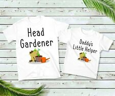 Head Gardener and Little Helper T-shirts, Daddy Daughter Son Grandad Matching