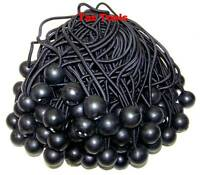 "100pcs 9"" Black Ball Bungee Bungie Cord Heavy Duty Canopy Tarp Tie Downs Straps"