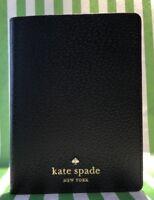 NWT Kate Spade Grand Street black leather passport holder wallet #WLRU1836 New