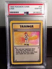 1999 Pokemon Game Base Set PSA 10 GEM MINT Lass #75/102
