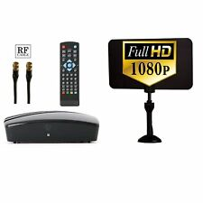 Digital Converter Box + HD Antenna + RF and RCA Cable to View/Record HD Channels