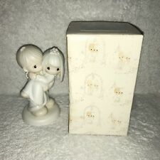 Precious Moments 1982 Bless You Two E9255 Cake Topper Wedding Figurine With Box