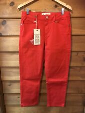 "NEW LONDON ""NOXLEY"" CROPPED JEAN - POPPY RED - SIZE 34 (16)"