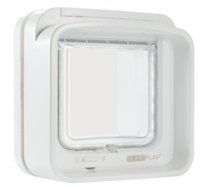 SureFlap Dual Scan Microchip Cat Door  White/Brown  - Selective Entry  - NEW!