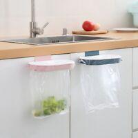 Kitchen Hanging Trash Rubbish Bag Holder Garbage Storage Rack Cupboard Hanger dv