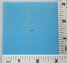 "0216.50 OPALESCENT THIN LIGHT CYAN 3"" x 3"" BULLSEYE 90 COE GLASS"