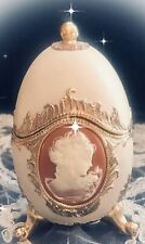 "Vtg CAMEO EGG Jewelry Trinket MUSIC BOX ""Music Of The Night"""