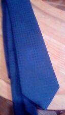 Hermes Navy Cravatta di seta Paris