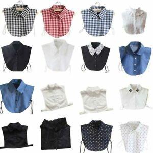 Women False Collar Fake Half Shirt Blouse Ladies Peter Pan Detachable Collar NkY