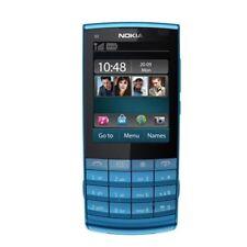 Unlocked Original Nokia X3-02 Touchscreen Bar 3G WIFI 5.0MP Blue Cellular Phone