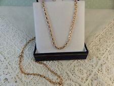 NEW 9ct 9carat ROSE Gold belcher Chain, 20 Inch