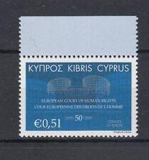 Cipro / Cyprus  2009 cinquantenario corte europe diritti dell'uomo 1187 MNH